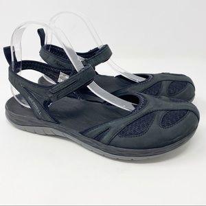 Merrell Siren Wrap Q2 Closed Toe Sandals Black 10